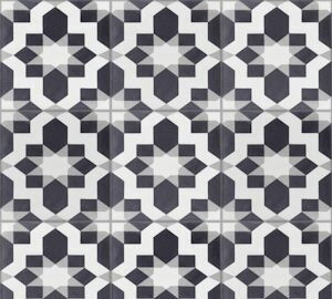 Fez Sencillo 8 x 8 Cement Field Tile in Black/White by Villa Lagoon Tile