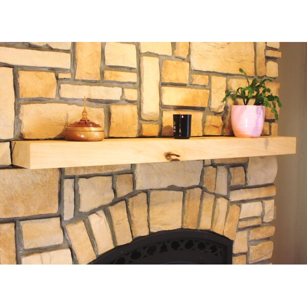 Fireplace Mantel Square Shelf by Kettle Moraine Hardwoods