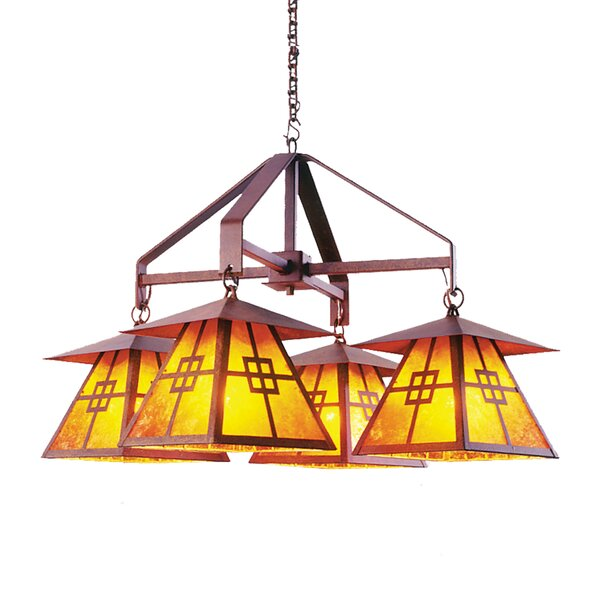 Nobles 4-Light Shaded Classic / Traditional Chandelier By Millwood Pines