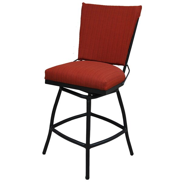 Jenna 26 Patio Bar Stool with Cushion by Tobias Designs