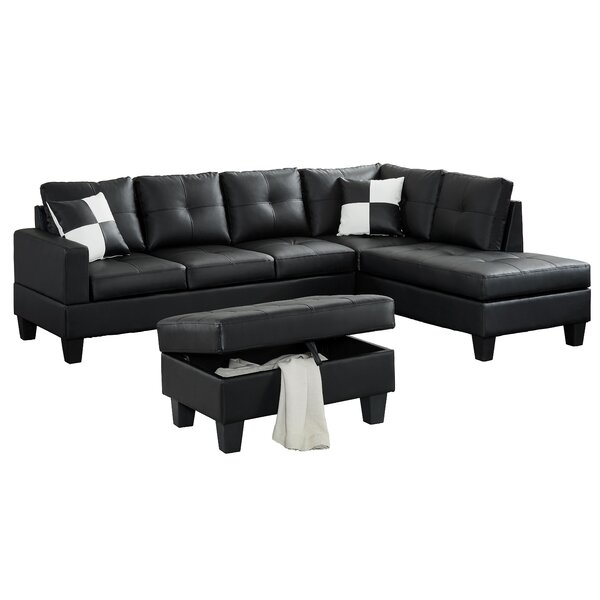Eliseo Sectional With Ottoman By Ebern Designs
