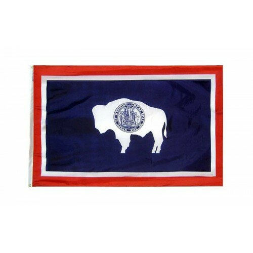 Wyoming Glo Traditional Flag by NeoPlex