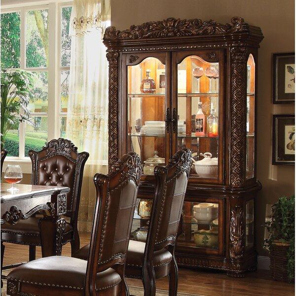 Welles Lighted Curio Cabinet by Astoria Grand Astoria Grand