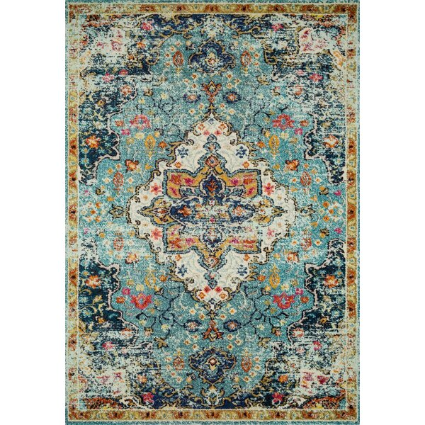 Lorenz Blue/Brown Area Rug by Bungalow Rose
