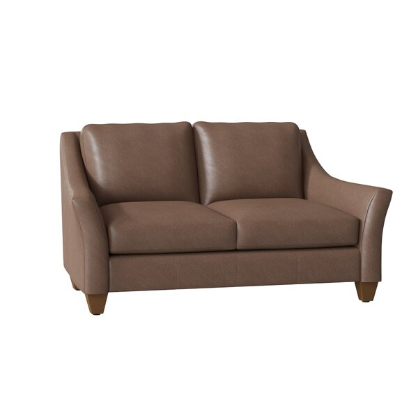 Session Leather Loveseat By Millwood Pines