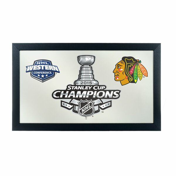 NHL Chicago Blackhawks 2015 Stanley Cup Wall Mirror by Trademark Global