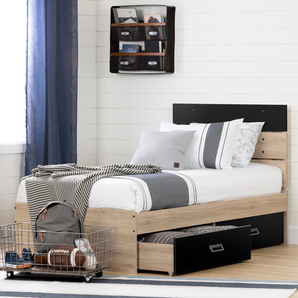 Induzy Twin Platform Bed with Drawers by South Shore