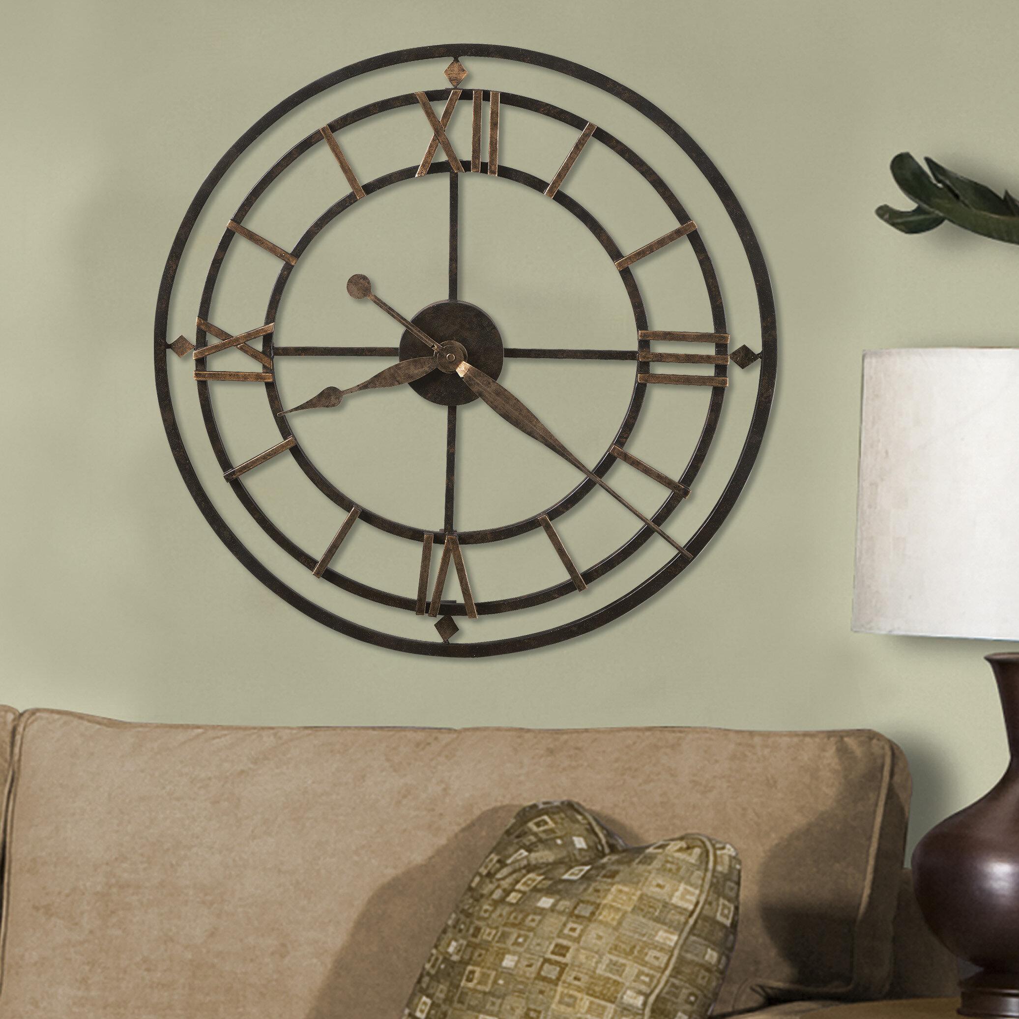office large size floor clocks wayfair. Designer Choice York Station 21.25\ Office Large Size Floor Clocks Wayfair