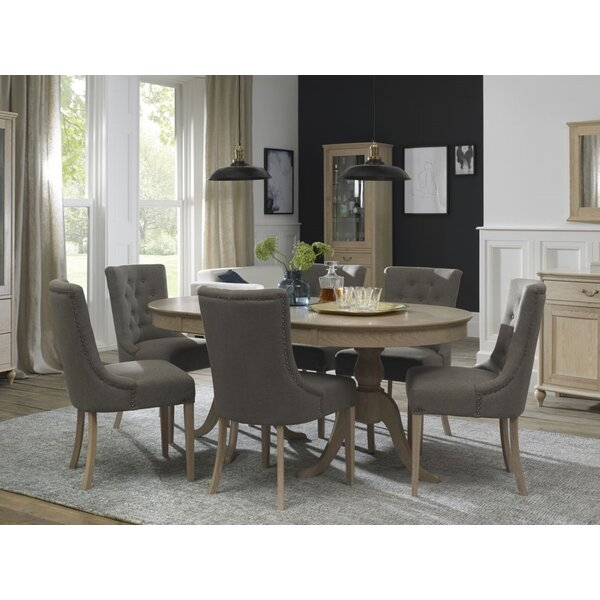 Cecile 7 Piece Extendable Solid Wood Dining Set by Canora Grey