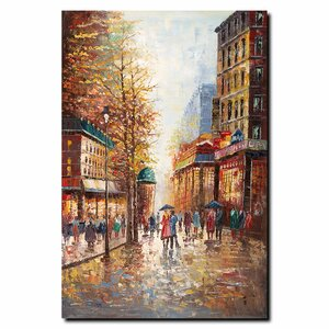 'French Street Scene I' by Joval Painting Print on Canvas by Trademark Fine Art