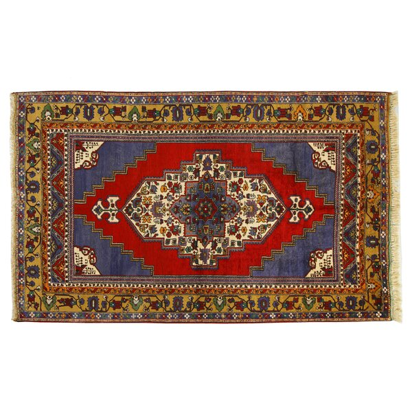 Hand-Knotted Blue Area Rug by La Viola Décor