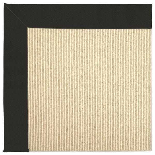 Lisle Machine Tufted Black/Beige Indoor/Outdoor Area Rug by Longshore Tides