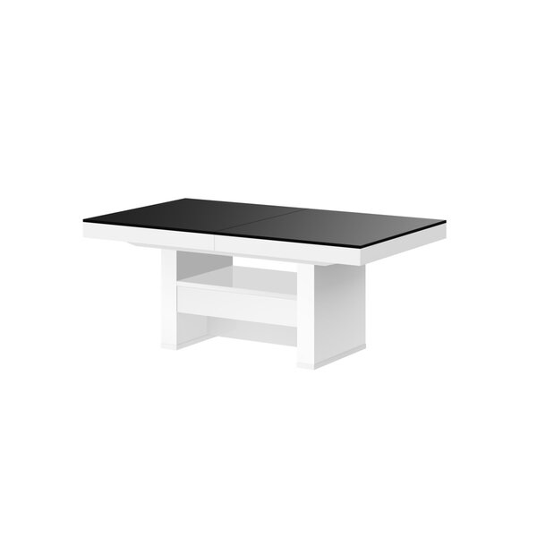 Kutsal Lift Top Extendable Trestle Coffee Table with Storage
