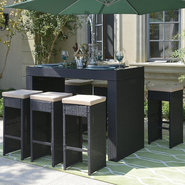 Joulon 7 Piece Dining Set by Ivy Bronx