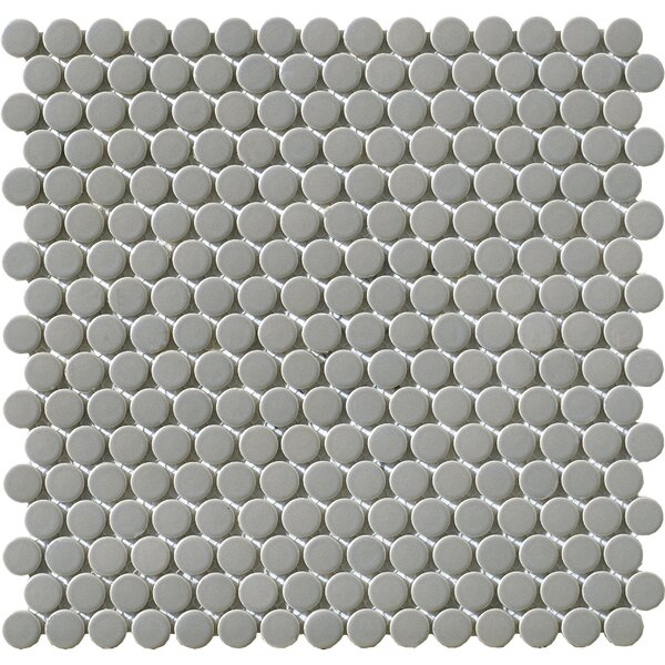 Vintage 1 x 1 Porcelain Mosaic Tile in Gray Penny by Walkon Tile