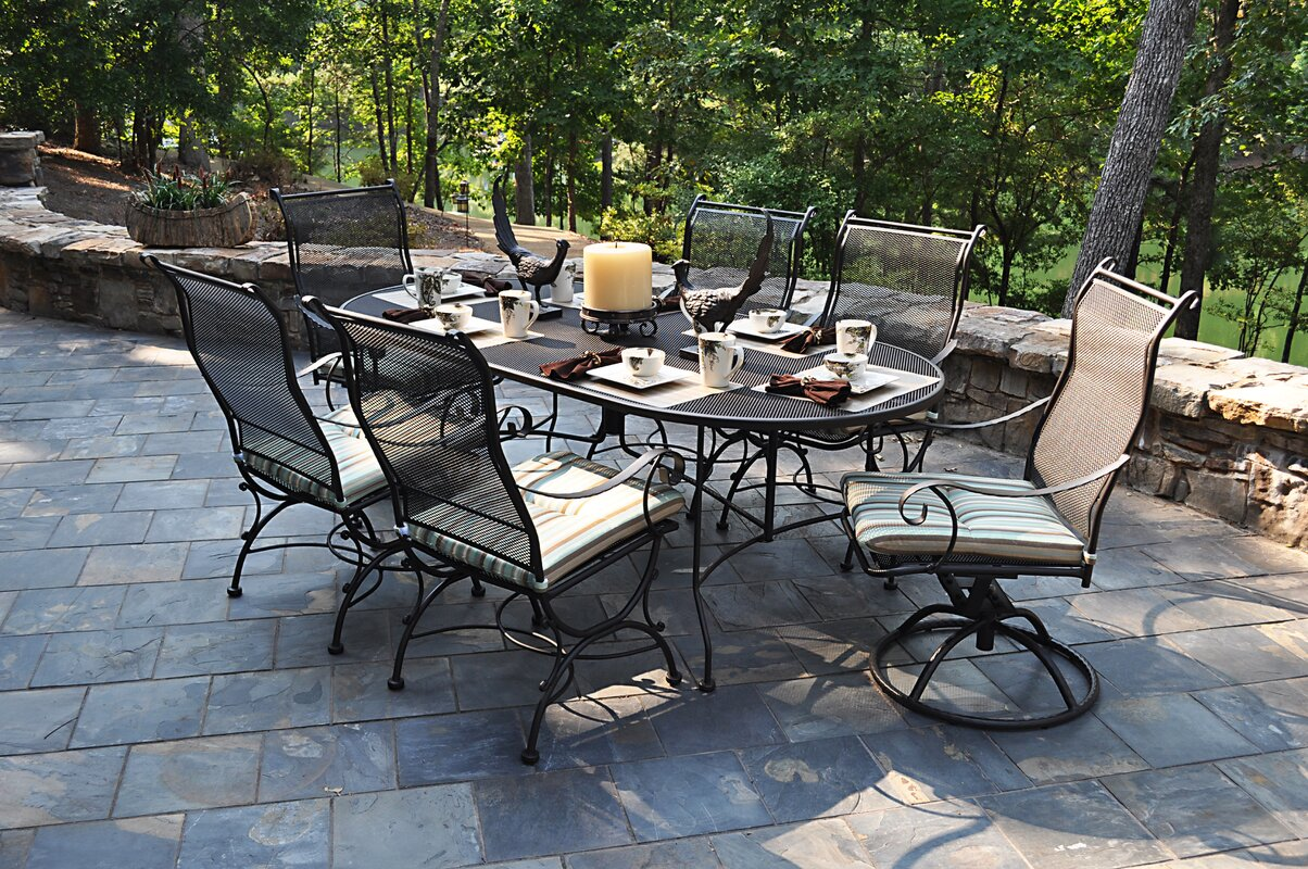 Meadowcraft Alexandria Swivel Patio Dining Chair & Reviews