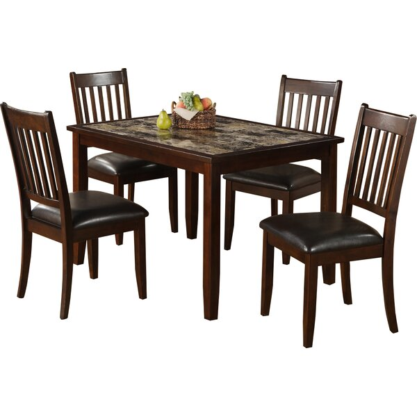 Engles 5 Piece Solid Wood Dining Set by Red Barrel Studio