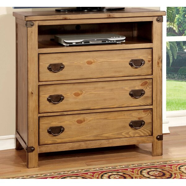 Review Adames 3 Drawer Media Chest