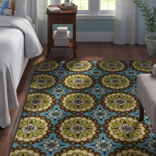 Brendel Blue/Brown Indoor/Outdoor Area Rug by Andover Mills