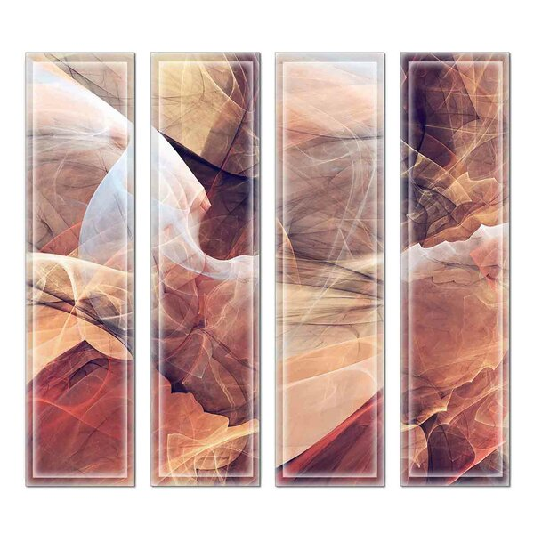 Crystal 3 x 12 Beveled Glass Subway Tile in Brown/Pink by Upscale Designs by EMA