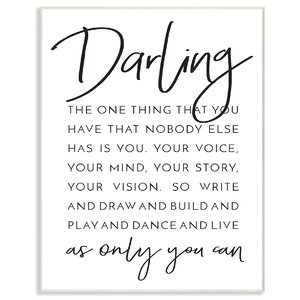 Darling Live As Only You Can' Textual Art by Stupell Industries