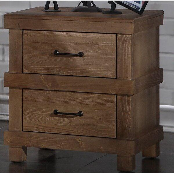 Olson 2 Drawer Nightstand by Loon Peak