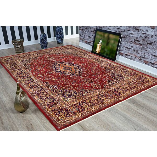 Barkhampstead Hand-Knotted Wool Red/Blue Oriental Area Rug