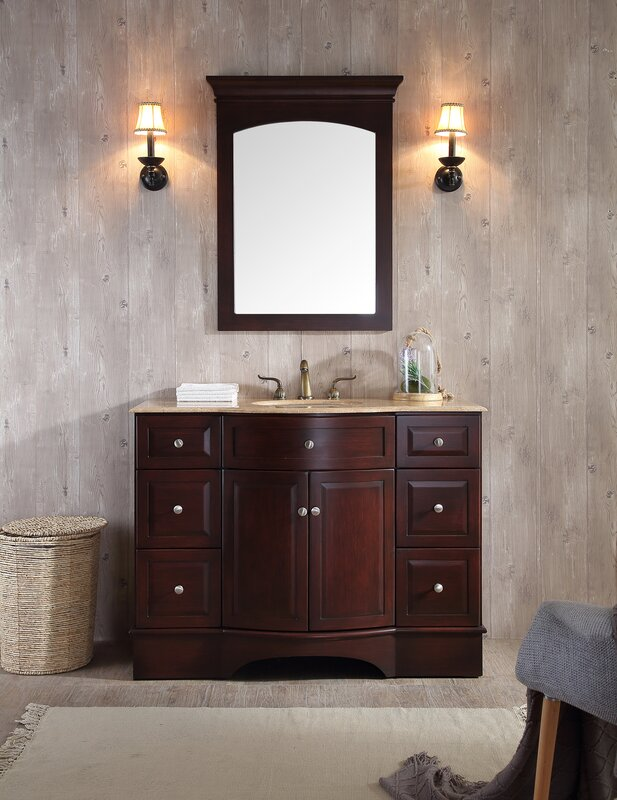 "Bathroom Mirror And Vanity Set dcor design dale 48"" single bathroom vanity set with mirror"