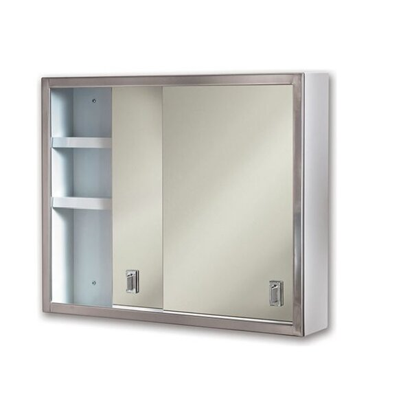 Pauletta Edge Mirror Door 20 x 24 Surface Mount Framed Medicine Cabinet with 2 Adjustable Shelves by Winston Porter