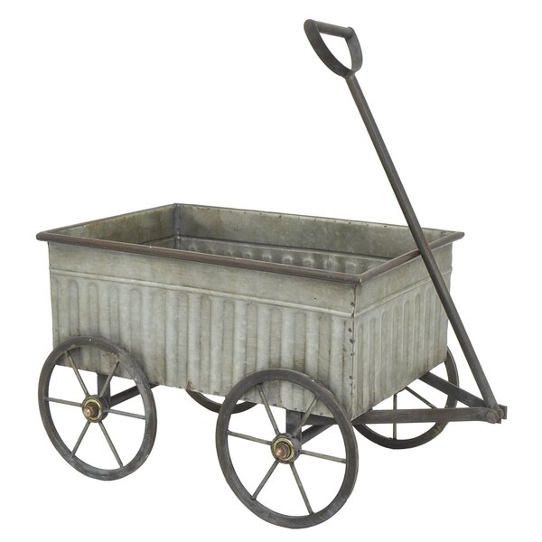 Galvanized Metal Wheelbarrow Planter by Three Hands Co.
