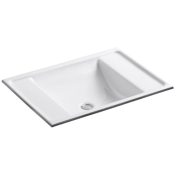 Alteo Metal Rectangular Undermount Bathroom Sink with Overflow by Kohler