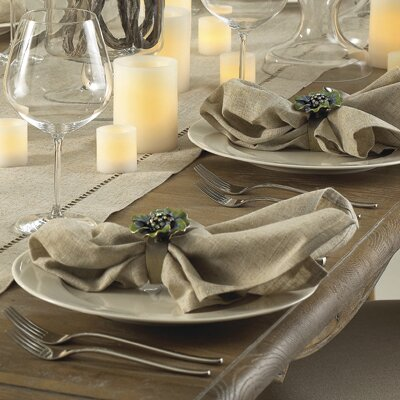 Kitt Plain Dinner Napkin (Set of 12) by Laurel Fou