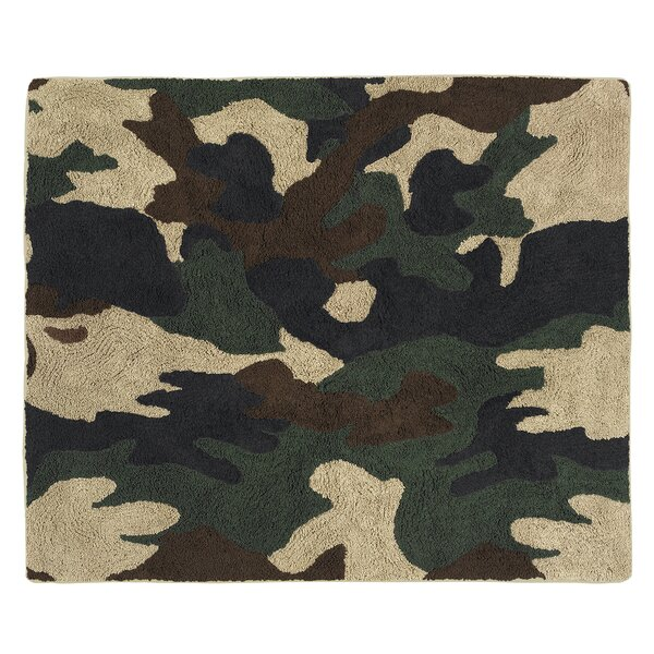 Camo Green / Brown Area Rug by Sweet Jojo Designs