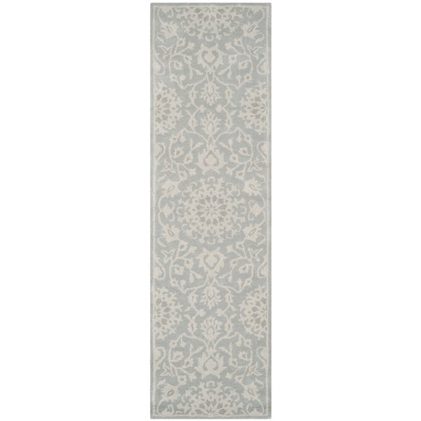 Wool Gray/Silver Area Rug by Birch Lane™