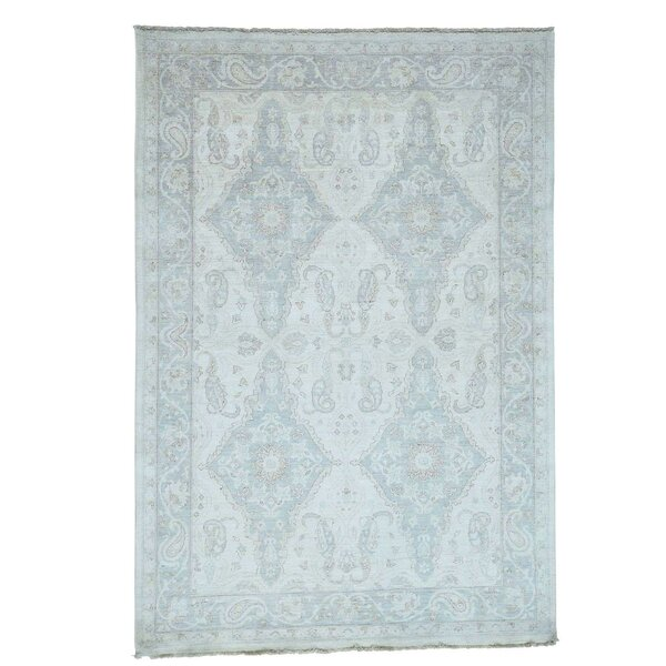 One-of-a-Kind Le Sirenuse Hand-Knotted Ivory Area Rug by Canora Grey