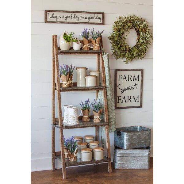 best website 5378a d0b1e Farringdon 4-Shelf Wood And Metal Ladder Bookcase By Gracie Oaks