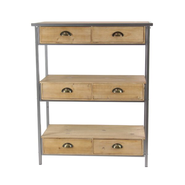 Osterley 40 H x 32 W 3-Tiered Freestanding Shelf with Drawers by Gracie Oaks