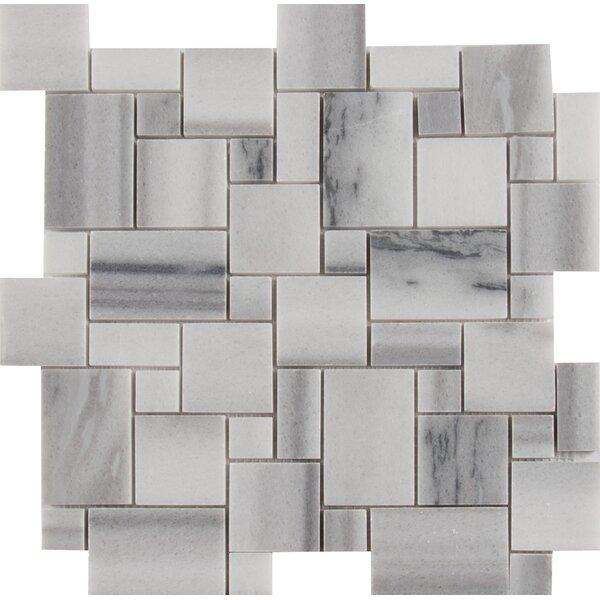Bergamo Magic Random Sized Marble Mosaic Tile in Gray by MSI