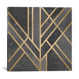 'Art Deco Geometry I' Graphic Art on Wrapped Canvas by Willa Arlo Interiors