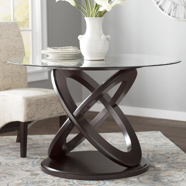 Chelvey Wood/Glass Dining Table by Charlton Home