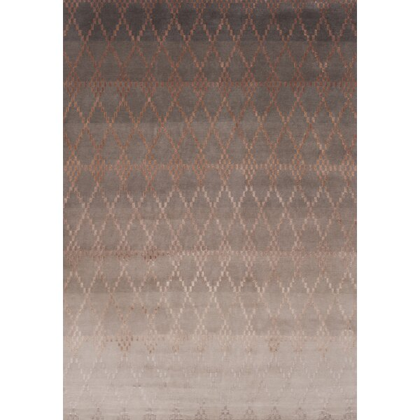 Misty Hand-Knotted Powder Area Rug by Linie Design