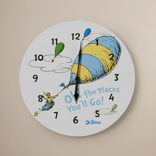 Dr. Seuss Oh The Places You''ll Go 11 Wall Clock by Trend Lab