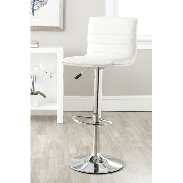 Rachele Adjustable Height Swivel Bar Stool by Orren Ellis