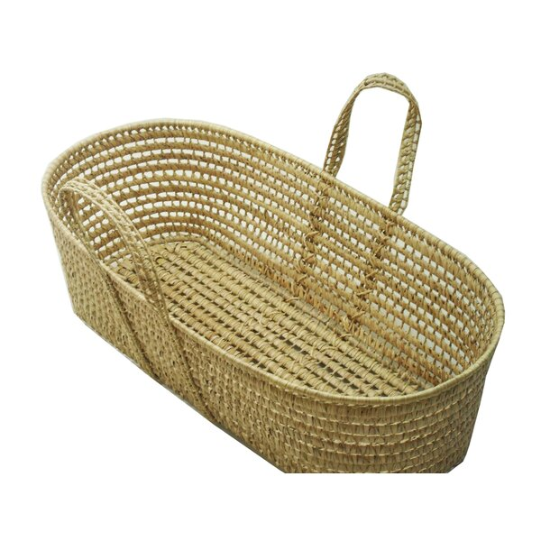 Palm Leave Moses Basket With Handles By Wendy Anne.
