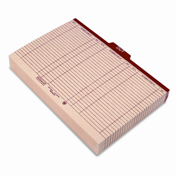 Charge-Out Record Guides, 100/Box by Smead Manufacturing Company