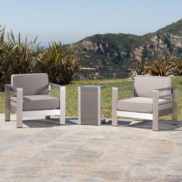 Royalston 3 Piece Conversation Set with Cushions by Brayden Studio