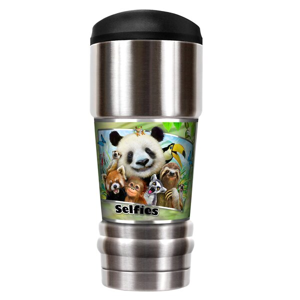 Zoo Selfies 18 oz. Stainless Steel Travel Tumbler by Great American Products