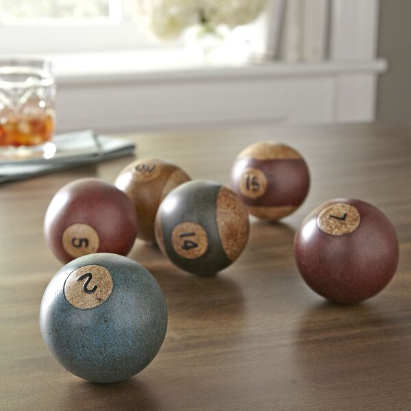Antiqued Billiard Balls (Set of 6) by Birch Lane™