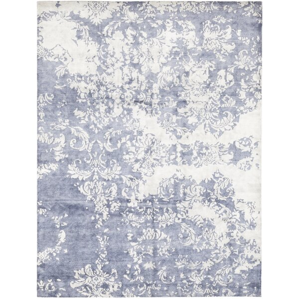 One-of-a-Kind Debord Hand-Knotted Wool Blue Indoor Area Rug by Isabelline