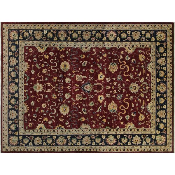 Xenos Hand-Knotted Wool Red Area Rug by Astoria Grand